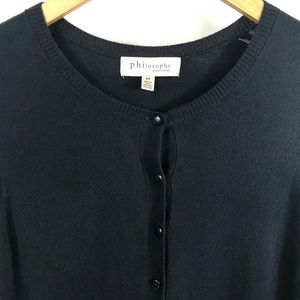Philosophy Soft Knit Crew Button Front Cardigan